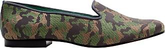 Blue Bird Loafer Salto Baixo de Couro Estampado Verde - Mulher - 35 BR