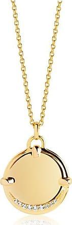 Sif Jakobs Jewellery Halskette Portofino Grande - 18K vergoldet mit weißen Zirkonia