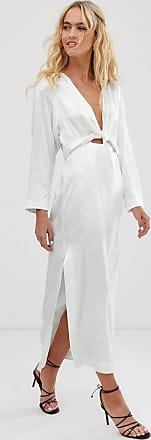 & Other Stories Lange jacquard jurk met bloemenprint in wit