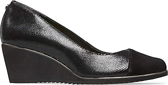 Van Dal Womens Leal Wide E Fit Wedge - Black Reptile Print, Size 7 UK