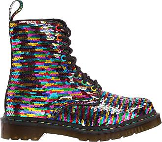 Dr. Martens Womens 1460 Pascal Seqn Fashion Boot, Rainbow Multi+Silver Shift Sequins+Hydro, 4 UK