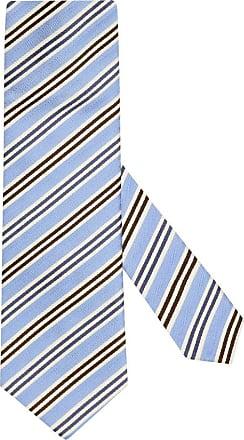 Altea Übergröße : Altea, Krawatte mit Streifen-Muster in Hellblau für Herren
