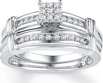 Kay Jewelers Diamond Bridal Set 1/5 ct tw Round-cut 10K White Gold