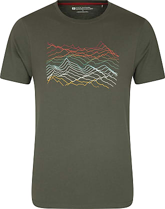Mountain Warehouse Mountain Richter Scale Mens Short Sleeve Tee - Lightweight T-Shirt, Quality Print Top, Easy Care - Ideal for Gym, Sports, Running & Cycling Brown 3XL