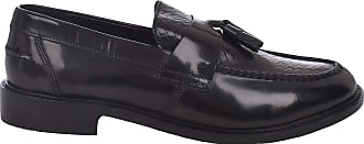 Ikon Mens Weaver Slip On Loafers Shoes - Black - 10 UK
