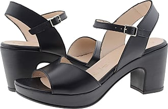 Wonders F-5873-P High Heel Leather Sandals Size: 4 Color: Black