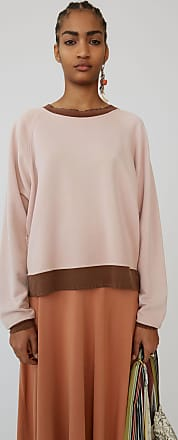 Acne Studios FN-WN-SWEA000021 Pale Pink Distressed sweatshirt