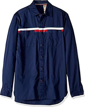 215a8ff8 Tommy Hilfiger Mens Adaptive Magnetic Long Sleeve Button Down Shirt Custom  Fit, Flag Stripe Blue