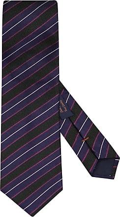 Altea Übergröße : Altea, Krawatte mit Streifen-Muster in Lila für Herren