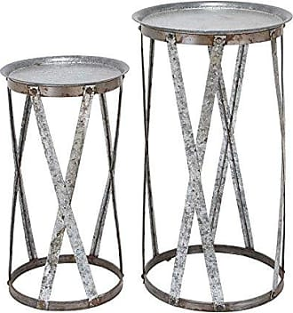 UMA Enterprises Inc. Deco 79 56196 Metal Pedestal Stools (Set of 2), 32/26