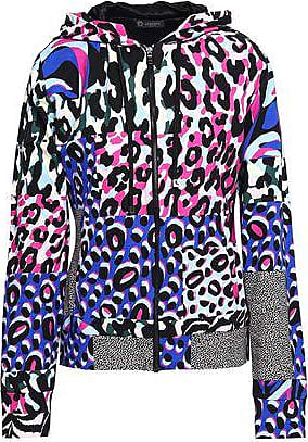 e91027353bf1 Versace Versace Woman Printed French Stretch-cotton Terry Hooded Jacket  Multicolor Size 44