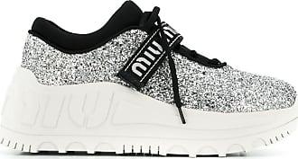 Miu Miu Sneakers mit breiter Sohle - Silber