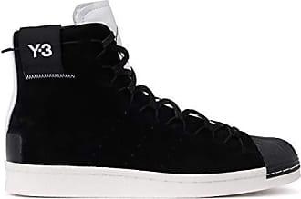 best sneakers f7ab4 0db31 adidas High-top Sneaker Y-3 Super High Schwarzes Veloursleder Und Weißes,  Größe