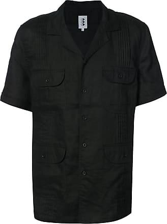 321 Camisa mangas curtas de linho - Preto