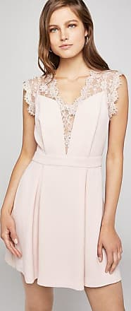 BCBGeneration Lace-Back Pleated Dress