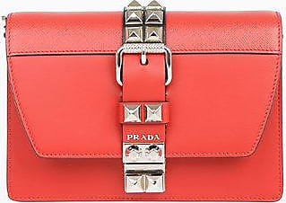 Prada Leather ELEKTRA Mini Shoulder Bag with Studs Größe Unica