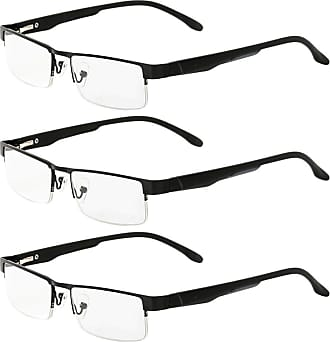 Zhhlaixing 3-Pack Reading Glasses Computer Glasses for Women and Men - Classic Spring Hinges Lightweight Reader Eyewear Zhhlaixing