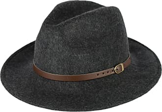 Hat To Socks Melange Grey Wool Fedora Hat with Faux Leather Belt Handmade in Italy