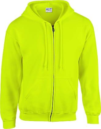 Gildan Gildan Heavyweight Full Zip Hooded Sweat - Yellow - Large