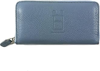 Comembreisd Dusty blue leather woman wallet designed and handmade in Italy