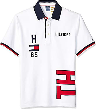 1d542926 Tommy Hilfiger Mens Adaptive Polo Shirt with Magnetic Buttons Custom Fit,  Bright White, Small