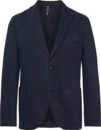 Incotex Navy Garment-dyed Cotton And Cashmere-blend Twill Blazer - Navy