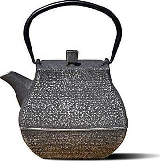 Old Dutch International 1062SB Silver/Black Cast IronMeiyo Teapot, 44 Oz