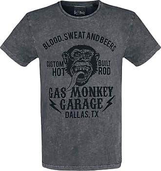 Gas Monkey Garage Speeding Monkey Men T-Shirt Grey L, 100% Cotton, Regular