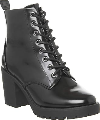 Office Absolutely- Lace Up Cleated Boot Black Box - 6 UK