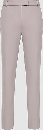 Reiss Joanne - Cropped Tailored Trousers in Grey, Womens, Size 10