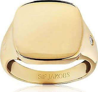 Sif Jakobs Jewellery Ring Follina Pianura Quadrato Piccolo - 18K vergoldet mit weißen Zirkonia