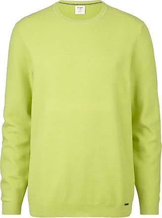 Olymp Level Five Strick Pullover, body fit, Anis, XXL
