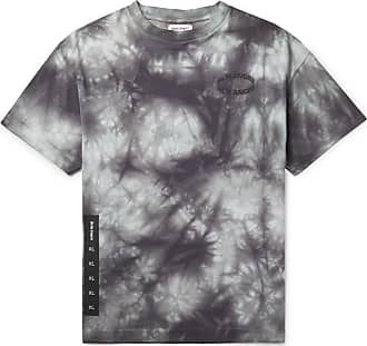 Palm Angels Logo-print Tie-dyed Cotton-jersey T-shirt - Dark gray