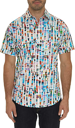 Robert Graham Mens Kinetic Short Sleeve Shirt In White Size: 1XL Big by Robert Graham
