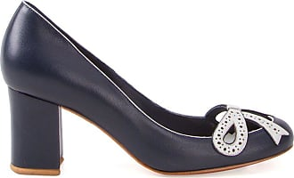 Sarah Chofakian chunky heel pumps - Di colore blu