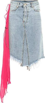 Unravel Embellished denim skirt