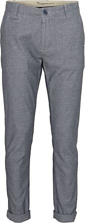 Knowledge Cotton Apparel Hose Chino 2 Colours Stretched Dunkelblau