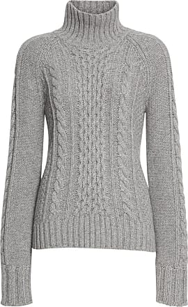 4486ef2619f99c Burberry Cable Knit Cashmere Turtleneck Sweater - Grey