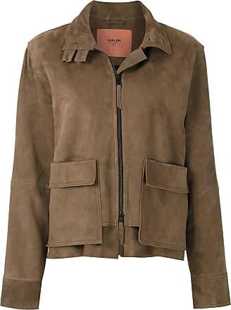 Osklen suede trucker jacket - Brown