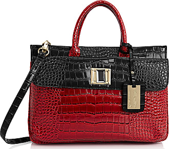 Swankyswans Womens Bedford Patent Leather Business Laptop Bag Red/Black