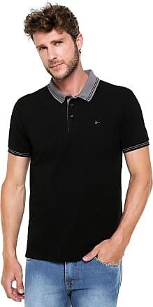 f1237a61657 Aramis Camisa Polo Aramis Regular Fit Frisos Preta