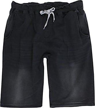 Lavecchia Bermuda Short kurze Hose Schwarz-Rot Übergröße 3XL bis 8XL Jogging