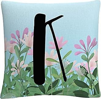Trademark Fine Art Pink Floral Garden Letter Illustration K by ABC