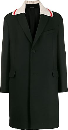 Lanvin contrast-collar coat - Black