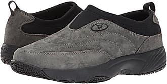 Propét Propet Womens Wash N Wear Slip On Ll Walking Shoe, SR Pewter Suede, 7 2E US