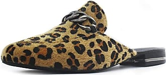 Damannu Shoes Mule Izzy Onça - Cor: Preto - Tamanho: 35