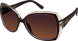 Jessica Simpson Womens J5234 BRN Non-Polarized Iridium Round Sunglasses, Brown, 70 mm