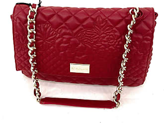 Ermanno Scervino Quilted shoulder bag with sewn design on the flap and logo