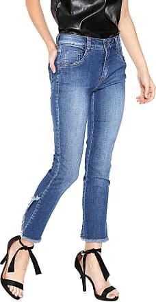 Lebôh Calça Jeans Lebôh Skinny Straight Azul