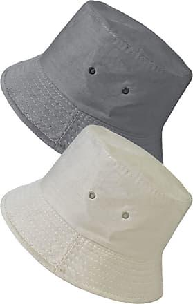 TOSKATOK UPF 50+ Unisex Mens Womens Reversible Cotton Blend Summer Bucket/Bush Hats-Grey/Stone